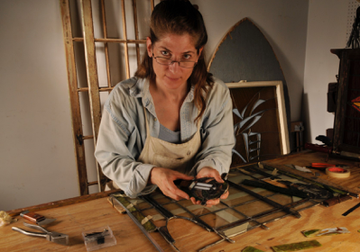 Solstice Stained Glass Founder Emily Carlson